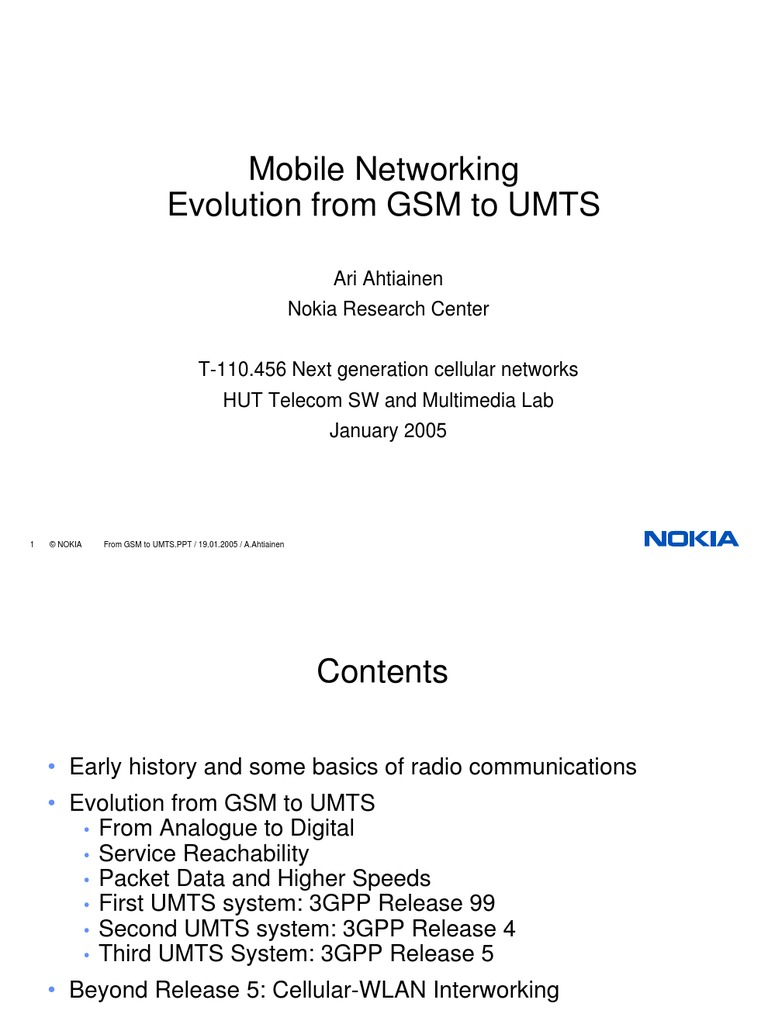 Radio Network Evolution From GSM to UMTS | 3 Gpp | Channel