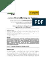 Electronic Banking in Ethiopia
