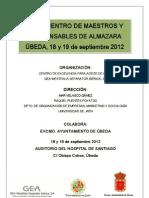 Programa Del VI Encuentro de Maestros y Responsables de Almazara