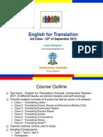English for Translation Class3 Module4 (20120923)