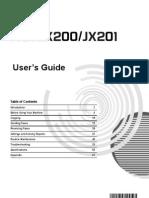 JX210P-Fax User Manual