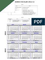 CALENDÁRIO 2012-13