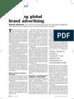 Brand Strategy - Managing Global Brand Advertising