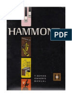 Hammond Model T Organ Owners Manual