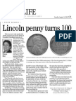 Lincoln Penny Turns 100