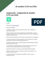 Adaptación de monitor LCD con LEDs