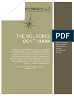 The Sourcing Continuum - Article by Dave Wolski
