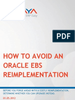 How to Avoid an Oracle EBS Reimplementation