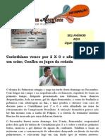 Corinthians Vence Por 2 X 0 e Afunda Palmeiras Em Crise; Confira Os Jogos Da Rodada