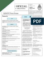 Boletín Oficial. Reglamentación de la Ley de Depositos Judiciales