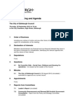 Full Council Meeting Agenda Sept 20 2012