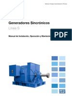 WEG Generador Sincronico Linea s Manual Espanol