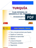 Plan Español desarrollo de turquia