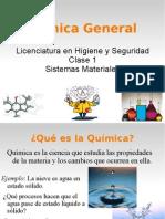 Clase 1 Sistemas Materiales Lic Hig Seg Qca Gral