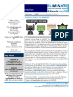 The Eliminate Project USA 2 Newsletter 9-17-12