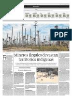 Mineros ilegales devastan territorios indígenas