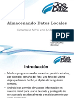 Almacenando Datos Locales Android