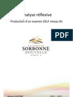 DELF B1 - Analyse Réflexive