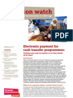 Electronic payment for cash transfer programmes