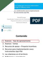 Contextos dinámicos, condicionantes para la implementación de instrumentos tipo PSA
