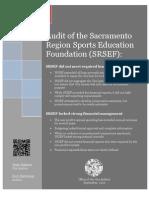 City audit of the Sacramento Region Sports Education Foundation