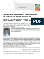 Anti m Llerian Hormone Based Prediction Model for a Live Birth in Assisted Reproduction
