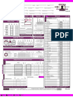 Dungeons and Dragons SSA-X2 Character Sheet