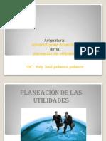 Planecion de La Utilidades