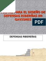 Pautas de Diseño de Defensas Ribereñas