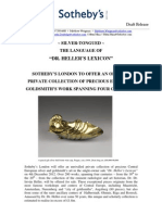 """Sotheby's London to sell """"Dr Heller's Lexicon"""" - a celebration of Central European craftsmanship in silver and gold"""