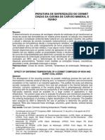 EFEITO DA TEMPERATURA DE SINTERIZAÇÃO DO CERMET COMPOSTO DE CINZAS DA QUEIMA DE CARVÃO MINERAL E FERRO