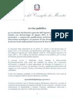 Avviso Pubblico DG Agenzia Italia Digitale 11-9-12
