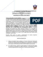 CONVENIO ESPECIFICO EN MATERIA DE INTERCAMBIO DE ESTUDIANTES DE GRADO, POSTGRADO Y PERSONAL ACADEMICO ENTRE LA USAC Y LA UNIVERSIDAD DE GUADALAJARA, MEXICO