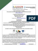 EU Seminar Invite - Edmonton