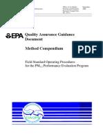 Procedures PM2.5 QA