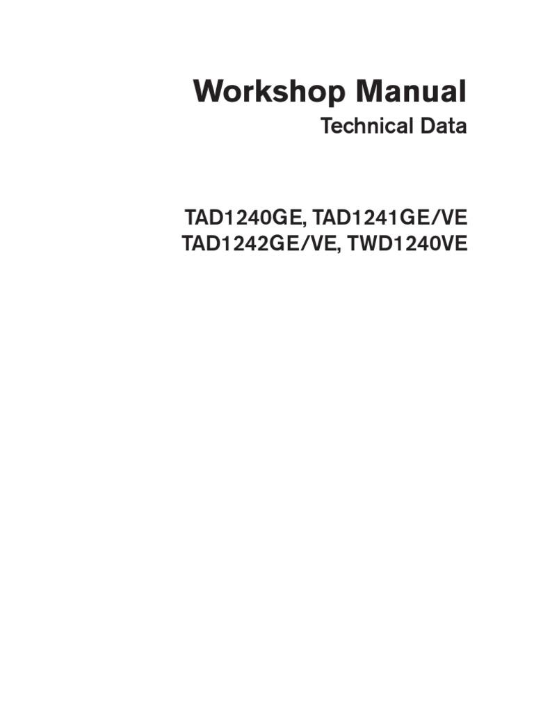 volvo tad 1241 ge workshop and repair manual engineering tolerance rh pt scribd com