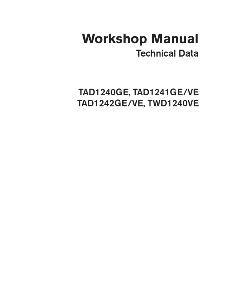 Volvo Tad 1241 Ge Workshop and Repair Manual   Engineering Tolerance    Cylinder (Engine)