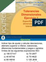 Ejercicios Tolerancias Dimensionales (UPM)