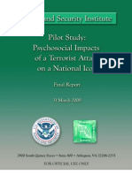 Pilot Study - Psychosocial Impacts of Terrorist Attack on a National Icon