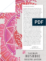 A Letter from Salman Rushdie to Independent Booksellers