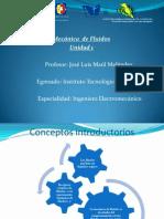 U1 presentacion del Docente Mecánica de Fluidos