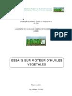 TP 3 - Essai sur moteur d'huiles végétales
