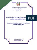 Fundaciones y Decretos IES