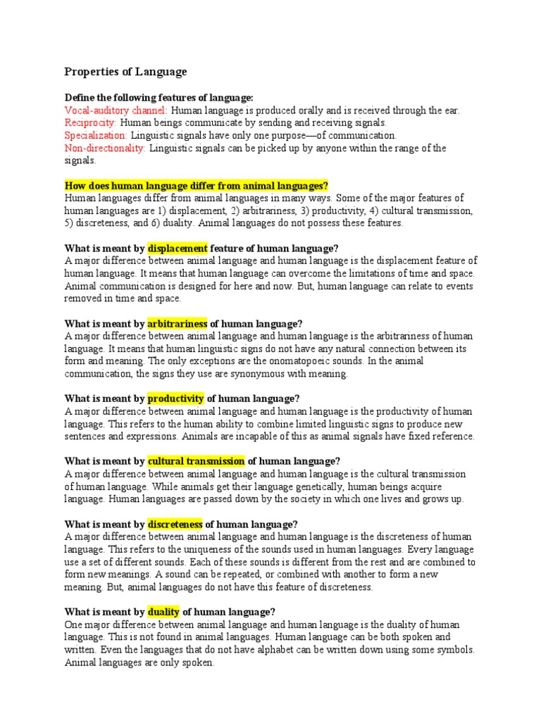 Properties of language interpersonal communication symbols biocorpaavc Gallery