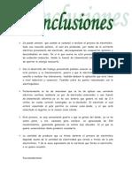 Conclusiones de Electrolisis.