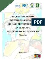 Memorias Encuentro Andino 2005