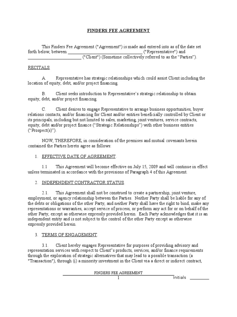Doc536716 Simple Investment Contract Investment Contract – Simple Business Contract