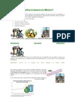 Cómo se clasifica la basura en México