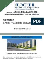 UCH:Modificaciones al IGV