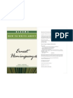Bloom's How to Write About Ernest Hemingway by Kim E. Becnel,Harold Bloom [2009]